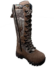 "AdTec Men's 15"" Water Resistant Zip/Lace Snake Bite Boot Camo"