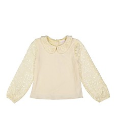 Masala Baby Kids Sweet Collared Top Lace