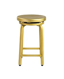 Euro Style Miller-C Swivel Counter Stool