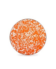 "Orange Swirl Enamelware Collection 10.5"" Dinner Plate"