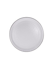 """Solid White Enamelware Collection 15.5"""" Serving Tray"""