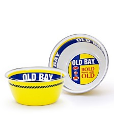 Golden Rabbit Old Bay Enamelware Collection 3 Cup Salad Bowl