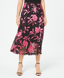 Alfani Petite Floral-Print A-Line Skirt, Created for Macy's