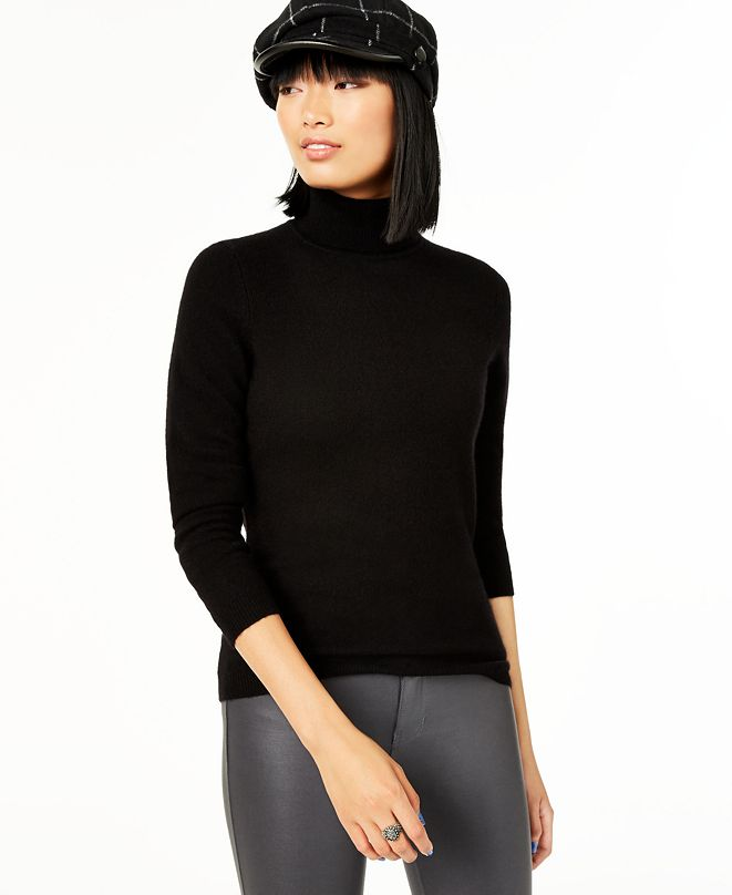 Charter Club Cashmere Turtleneck Sweater, Regular & Petite Sizes, Created for Macy's