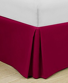 """Home Basic Easy Fit Microfiber Pleated 14"""" Cal King Bedskirt"""