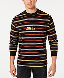 Men's Long-Sleeve Striped Logo T-Shirt