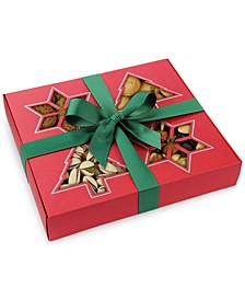 Holiday Cookie and Nut Assortment in Red Holiday Gift Box