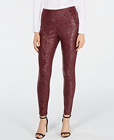 INC Snake-Print Skinny Pants, Created for Macy's