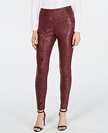 INC Snake-Print Skinny Pants, Created for Macy's