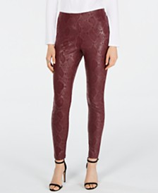 I.N.C. Snake-Print Skinny Pants, Created for Macy's