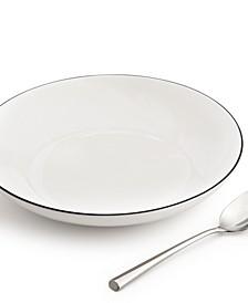 Black Line Dinner Bowl, Created for Macy's