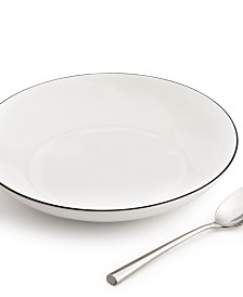Hotel Collection Black Line Dinner Bowl, Created for Macy's