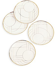 Gold Decal Salad Plates, Set of 4, Created for Macy's