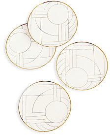 Hotel Collection Gold Decal Salad Plates, Set of 4, Created for Macy's