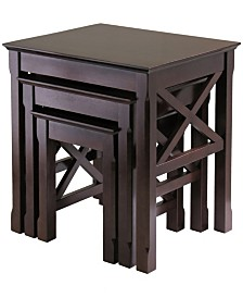 Winsome Wood Xola 3-Piece Nesting Table