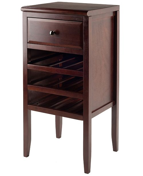 Winsome Orleans Modular Buffet with Drawer and 12-Bottle Wine Rack