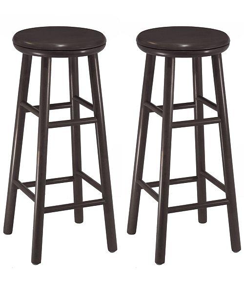 """Winsome Oakley 2-Piece 30"""" Swivel Seat Bar Stool Set"""