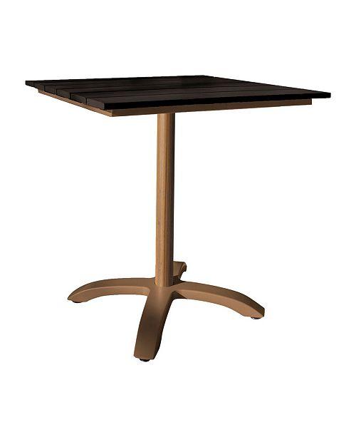 "Panama Jack Home Brookwood 28"" Slatted Artificial Wood Table"