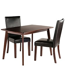 Wood Shaye 3-Piece Dining Table with Chairs Set