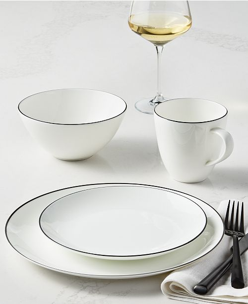 Hotel Collection Black Line Dinnerware Collection, Created For Macy's