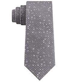 DKNY Men's Slim Distressed Check Tie