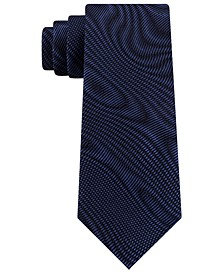 Men's Electronic Wavelengths Slim Abstract Silk Tie