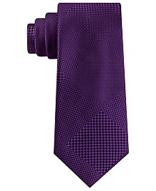 Sean John Men's Classic Pixilated Plaid Silk Tie
