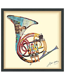 """Empire Art Direct 'Funky French Horn' Dimensional Collage Wall Art - 25"""" x 25''"""