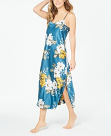 I.N.C. Women's Floral-Print Long Nightgown, Created for Macy's