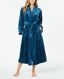 Women's Long Plush Robe, Created for Macy's