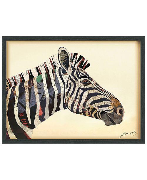 Empire Art Direct 'Zebra' Dimensional Collage Wall Art - 25'' x 33''