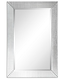 "Solid Wood Frame Covered with Beveled Prism Mirror Panels - 24"" x 36"""