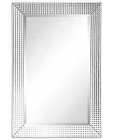 """Empire Art Direct Solid Wood Frame Covered with Beveled Prism Mirror Panels - 24"""" x 36"""""""