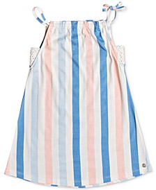 Little Girls Wake Up Calm Striped Cotton Dress