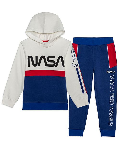 Jem Little Boys Outta This World 2-Pc. NASA Hoodie & Joggers Set