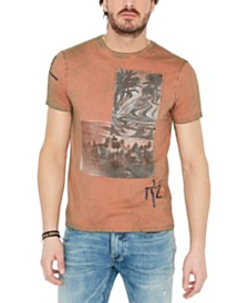 Buffalo David Bitton Men's Destructed Graphic T-Shirt