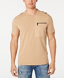 Men's Zip-Pocket Flight T-Shirt, Created for Macy's