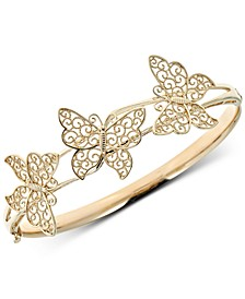 Butterfly Bangle Bracelet in 14k Gold