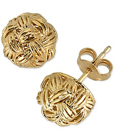 Woven Knots Stud Earrings in 14k Gold