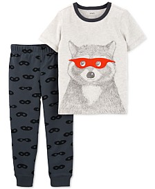 Carter's Toddler Boys 2-Pc. Cotton Raccoon-Print T-Shirt & Jogger Pants Set
