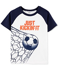 Little & Big Boys Soccer-Print Cotton T-Shirt