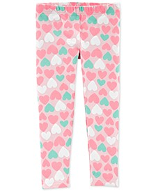 Toddler Girls Heart-Print Leggings