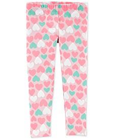 Toddler Girls Heart-Print Leggings