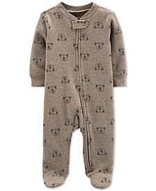 Baby Boys 1-Pc. Koala-Print Cotton Footed Pajamas