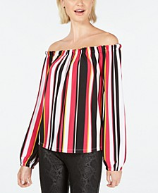 INC Striped Off-The-Shoulder Top, Created for Macy's