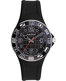 Men's NAPLBS904 Lummus Beach Black Silicone Strap Watch