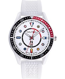 N83 Men's NAPSPS905 Surf Park White/Black Silicone Strap Watch