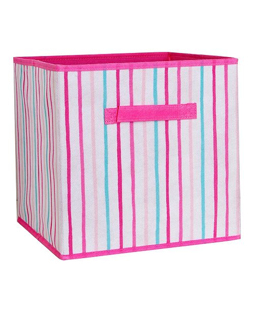 Laura Ashley Kids Collapsible Storage Cube in Painterly Pink