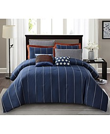 Jonesworks Asher 3-Piece Full/Queen Comforter Set