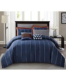 Jonesworks Asher 3-Piece Full/Queen Comforter Set
